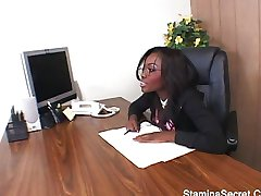 Horny boss wants it in the office