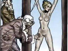 عبودية المثيرة كاريكاتير المتشددين الجنس