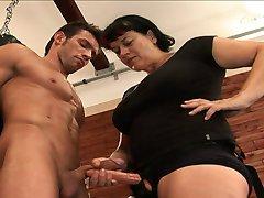 CFNM Dare to Compare: His cock VS her strap on