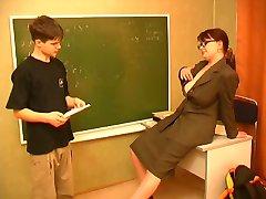 Rus öğretmen ve kız