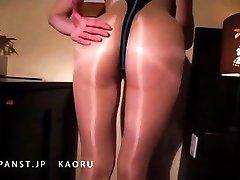 Japanse MILF in Nylon Panty Benen