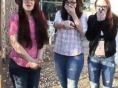 Meisjes buste u jacking off CFNM masturation POV