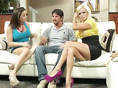 Nikita Von James and Charity Bangs threesome