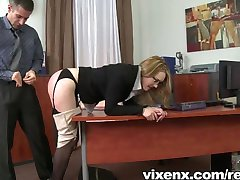 Secretary punished with spanks and anal sex