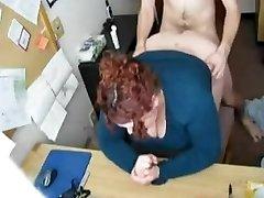 Neuken mijn Geile Vette BBW Secretaris op Verborgen Cam