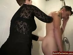 Ugly Dutch Granny Fucks Office Stud