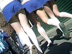 Cheerleaders Truser Upskirt