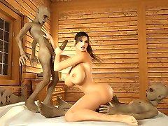 2 monster knuller busty jente