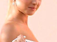 elegante blonde Schönheit casting