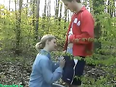 Amateur sex in the woods