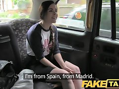 FakeTaxi - turístico español con gran taxi polla