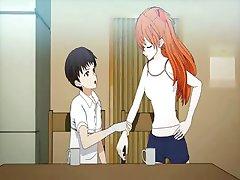 Adolescente de anime disfruta coño lamió
