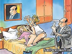 Divertido comic porno de los chistes