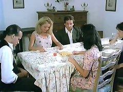 Italian aunt seduces nephew's friend