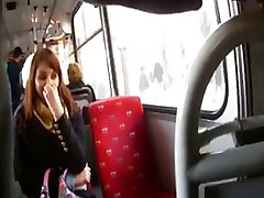 blinkande dildo i buss