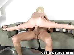 Busty blond whore sucks huge jizzster part5