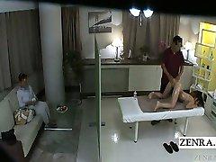 Legendado em Japonês estudante ídolo esperança de bunda de massagem