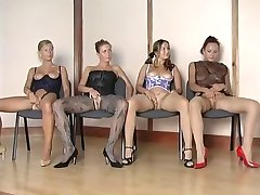 Hotteste nylon jenter vs 1 heldig fyr