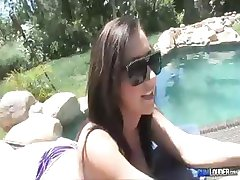 Jayden James pool side