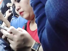 encoxada indonesia chuby girl in train she like my dick