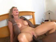 Volwassen Huis Vrouw Geneukt door Twee BBC