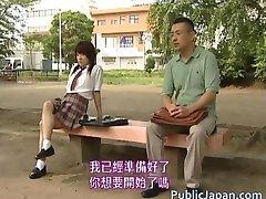 Asian model has hot public sex part2