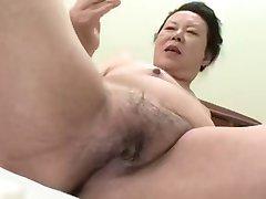 Japansk BBW Bestemor shino moriyama 66-år-gamle H-0930