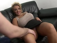 blonde milf with big natural hooters shaved pussy drill