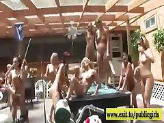 Nudist Summer Party with horny Next Door Girls