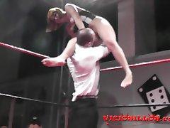 Soraya Wells & Amador Xtreme public fist fuck on boxing ring by Viciosillos