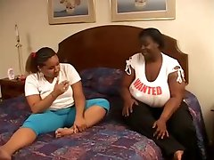 interracial bbw lesbian in action in bedroom