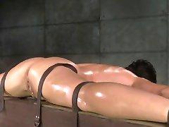 Flexible slut bound in splits,spitroasted, and BBC creampied