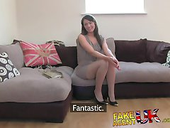 FakeAgentUK Orgasms and squirting from Hairy pussy Latvian babe