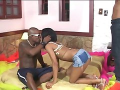 brazilian babe brutal double anal