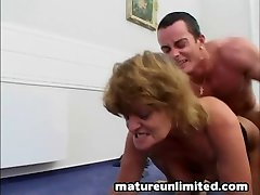 Dirty mom is a cock sucker threesome