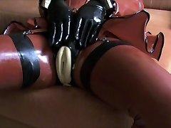 Rubber Pussy Masturbation