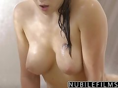 NubileFilms - Super-hot Bathroom Sex With Leah Gotti