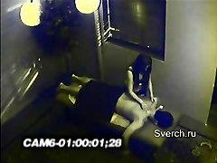Hidden cam in massage cab.