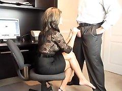 Super Hot MILF Office Bj