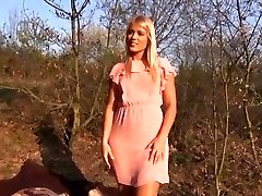 Perfect Blonde very first time loving Public Sex