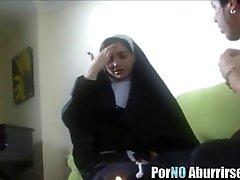 Horny nun goes kinky