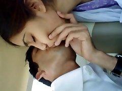 प्रेमिका होंठ चुंबन