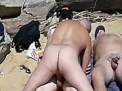 пляж втроем