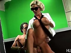 Lady Gaga climbing onto rigid cock