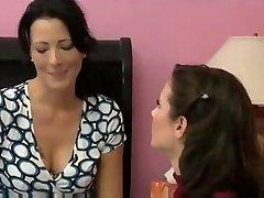 MILF seduces her friend for astounding lesbian sex