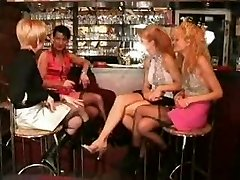 French mature platinum-blonde - sex gang and anal