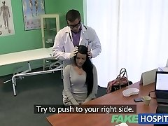 Fake Polyclinic Stiff neck followed by a big stiff cock