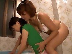 Japansk Lesbisk Maid