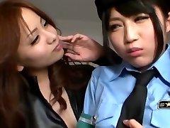 Japansk Lesbiske Forførte Offiser