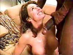 wife feeding on a huge cock